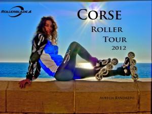 Tour de Corse à roller Aurélia Randazzo