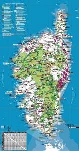 La carte touristique éditée par l'agence du tourisme de la Corse (ATC).