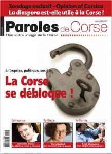 """La une du premier numéro de """"Paroles de Corse"""", en kiosques à partir du mercredi 27 juin"""