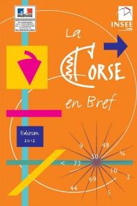 """La couverture de la plaquette """"La Corse en bref"""", édition 2012."""