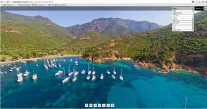 Une vue panoramique de Girolata , sur www.spheric360.fr. Bluffant. (copie d'écran)