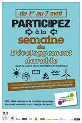 L'affiche de la semaine du développement durable.