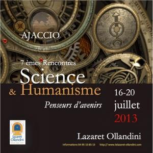 L'affiche du cycle 2013 de conférences au lazaret Ollandini, à Ajaccio: Penseurs d'avenirs.