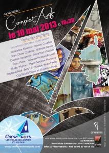 """L'affiche de la vente aux enchères organisée à Ajaccio pour """"Les Voiles de l'espoir"""""""