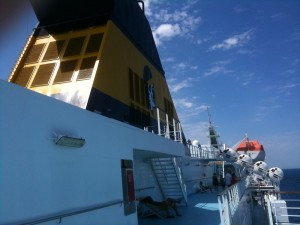 Tassement du nombre de passagers transportés en 2013, pour Corsica Ferries. Comme pour l'ensemble du trafic maritime. (copyright Mas & Ratti)