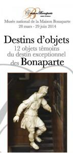 Le dépliant de présentation de l'exposition (doc. Musée national Maison Bonaparte.