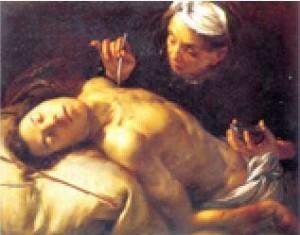 Saint Sébastien soigné par Irène, Francesco Cairo, Tours, musée des Beaux-Arts. (DR)