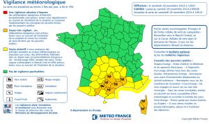 La Corse est placée en vigilance orange. (doc météo France)
